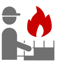 Es soll die Kontrolle eines Gebäudes unter brandschutztechnischen Gesichtspunkten darstellen - der Brandverhütungsschau oder Brandschutzbegehung