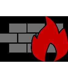 Es soll eine stilisierte Brandwand darstellen. Ein wichtiges Mittel im Brandschutz zur Abtrennung von Brandabschnitten